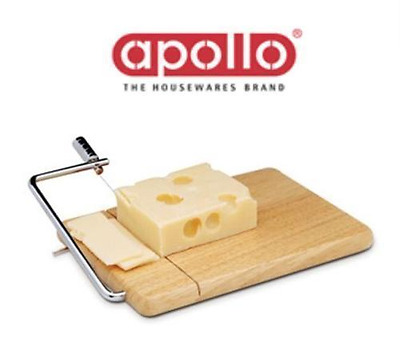 Apollo Cheese Board with Wire Hevea Wood Wooden Cheese Board