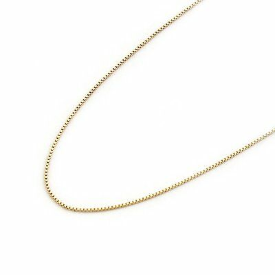 14k Solid Yellow White/Rose Gold 0.55mm Box Chain Necklace