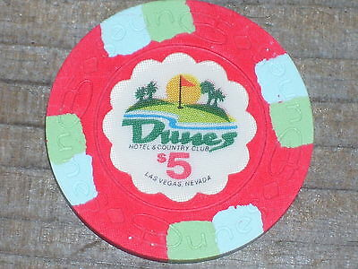 $5 Uncirculated 16Th Edt Gaming Chip From The Dunes Casino Las Vegas
