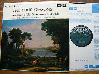 Zrg 654 Vivaldi: The Four Seasons  Loveday / Asmif / Marriner    Oval   Nm