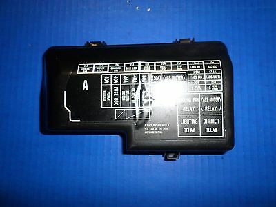 4th gen 92-96 honda prelude front engine fuse box cover honda# 38252 ss0