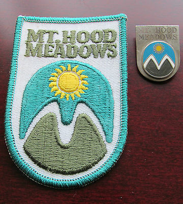 Mt. Hood Ski & Skateboard Resort Pin & Patch Vintage Oregon OR