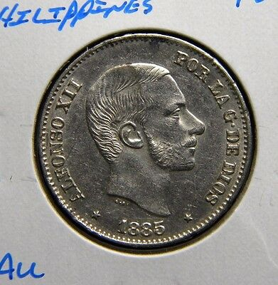 1885 Philippines***50 Centavos***silver***about Uncirculated Condition***fco