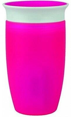 Toddler Drinking 360 Degree Sippy Cup (296 ml Pink) Clean Non Spill Girls Kids