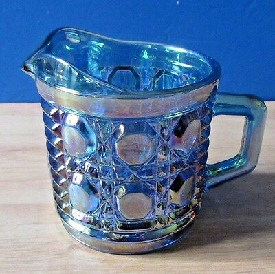 Rare  Blue glass Light Neon Blue, Pouring Cup with Handle