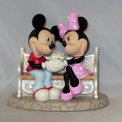 Every Day Is Sweeter With You Precious Moments Mickey Minnie Mouse Bench NWOB