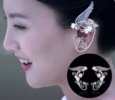 Elven Ear Cuffs Cool Wing Filigree Cosplay Fairy Elf Ears Cuffs Fantasy Costume