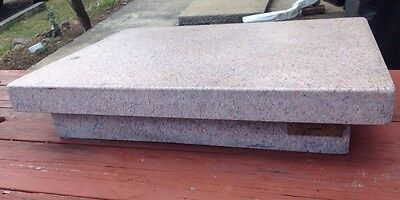 "Precision Pink Granite surface plate Slab Display Tool Room 24"" x 18"" x5"""