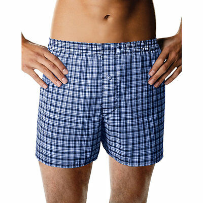 MBBXD3 Hanes Mens ComfortBlend Woven Boxers with Comfort Flex Waistband 3-Pack