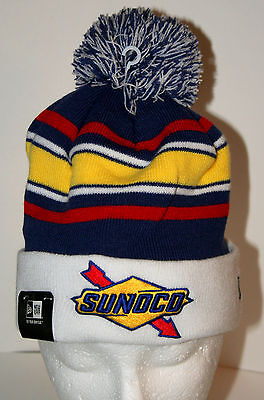 New Era Sunoco Oil & Gas Winter Pom-Pom Knit Cap Hat New OSFM