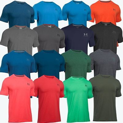 Under Armour 2017 Mens Charged Cotton Logo Chest Lockup T Shirt Gym Training Top