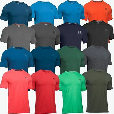 Under Armour 2018 Mens Charged Cotton Logo Chest Lockup T Shirt Gym Training Top