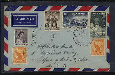 Australia   Antarctic stamps on cover to US airmail                   MS0206