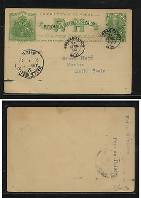 Haiti  postal  card  to  Germany   1902               MS0204