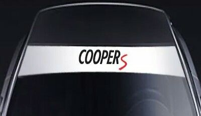 Mini copper S Banners Windshield Decals Sun Strip Visor Banners car Stickers