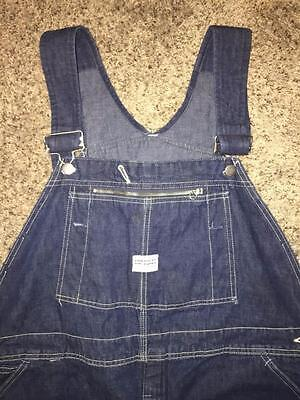 Vintage 60S Hercules Vat Dyed Denim Union Made Work Overalls Size 48X31