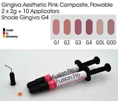 Gingiva Gum Shade Aesthetic Pink Flowable Dental Composite 2 x 2g, VITA G4