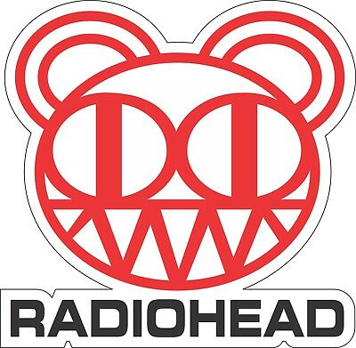 "Radiohead Bear music bumper sticker, wall decor, vinly decal, 4"" x 5"""