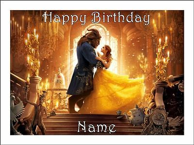 BEAUTY & THE BEAST A4 (25.5cm x 19cm) EDIBLE ICING IMAGE CAKE TOPPER #1