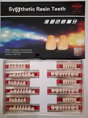 SYNTHETIC RESIN Teeth Set for Acrylic & Flexible Dentures (3 sets in a Box)