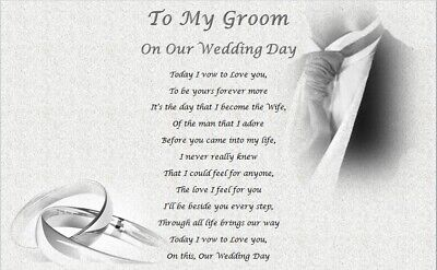 MY GROOM on our wedding day (personalised gift)