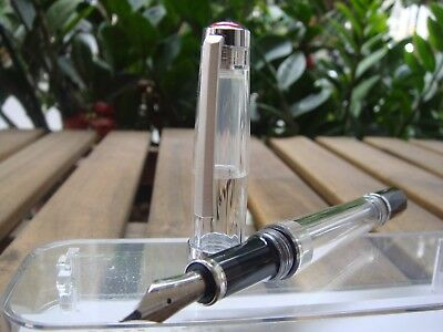 TWSBI Vac 700 R 700R Clear Fountain Pen  〝SEALED〞4 nibs choose : EF / F / M / B