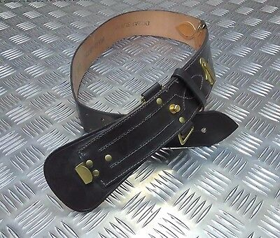 Genuine British Military Leather Sam Browne Belt Without Crossover Strap/Buckle