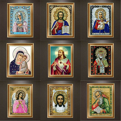 Religious Figures DIY 5D Diamond Painting Cross Stitch Craft Home Decor