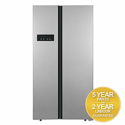 SIA AM1SS American Style Side By Side Frost Free Stainless Steel Fridge Freezer