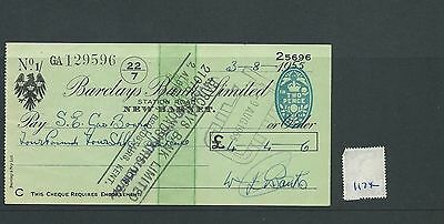 wbc. - CHEQUE - CH1174- USED -1955 - BARCLAYS BANK, NEW BARNET