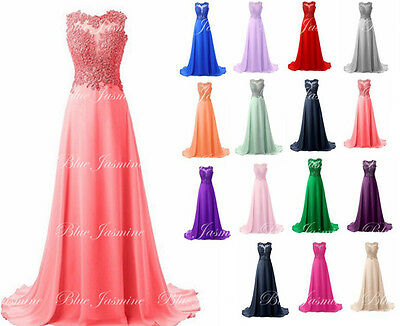 New Chiffon Prom Dress Formal Bridesmaid Evening Party Ball Gown Stock Size 6-22