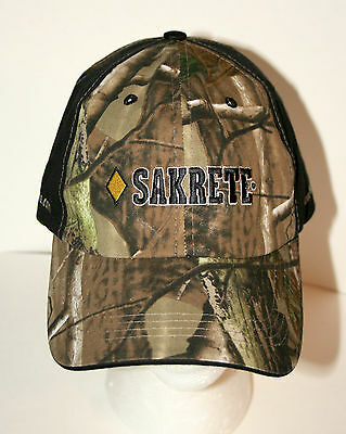 Home Depot Sakrette Cement Products Camo Hunting Baseball Hat Cap New OSFM