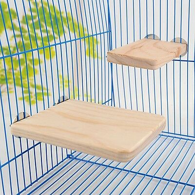 Small Pet Wooden Cage Platform Shelf Stand Board for Puppy Pet Hamster Squirrel
