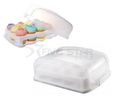 Mini Cupcake Carrier 2 Tier Stackable Holder Fairy Cake Caddy Storage Party Box