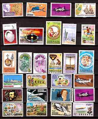 GRENADA  27 timbres neufs :usages courants,sujets divers 337T1