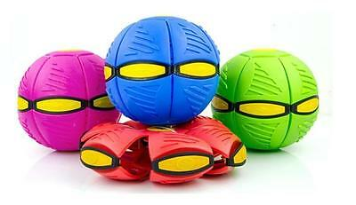 UFO Frisbee Flat Silicone Throw Disc Deformed Catch Ball Blue, Pink FREE P&P