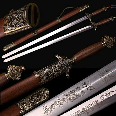 Handmade Chinese Wudang Sect Sword Double Sword Good Elasticity Stainless Steel