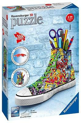 Ravensburger 12535 Sneaker 3D Puzzle 108pc Trainer Jigsaw Children Kids - Multi