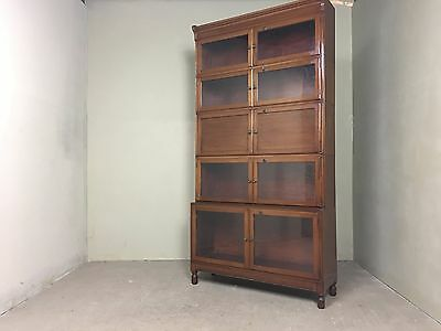 Antique Minty Library Specialist Stacking Glass Cabinet Bookcase With Drop Down