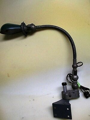 Scarce Antq CM Sorensen Post Mount Double Jointed Flexible Surgical Exam Light