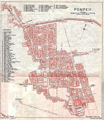 Vintage Map of Pompeii