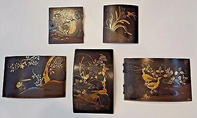 Edo Period Japanese Lacquer Avian Panels