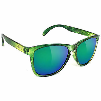 New GLASSY Jaws Signature Polarized Skate Sunglasses (Galaxy / Green Mirror)