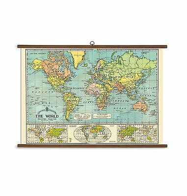 Cavallini Papers World Map Vintage School Chart