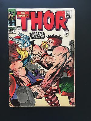 The Mighty Thor #126 *1St Time Own Series Key Issue* Marvel 1966 Vg- 3.5