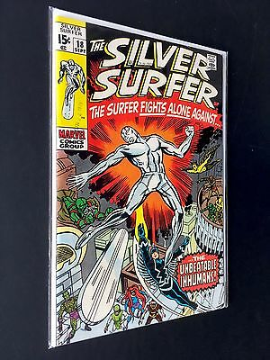 The Silver Surfer #18 *the Inhumans App. Last Issue* Marvel 1970 Vf- 7.5