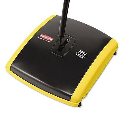 New Rubbermaid Commercial Dual Action Floor Carpet Mechanical Sweeper 4213-88Bla