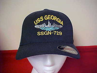 USS Georgia SSGN - 729 official Flexfit command ball cap for Enlisted L/XL