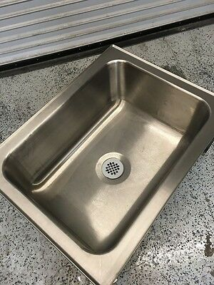 28x20 Floor Mount Mop Sink with Drain #6189 Commercial Stainless Steel Cleaning