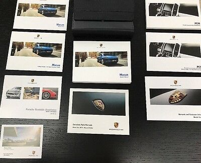 Porsche Macan 2015 Owners Manual Book - In Luxury Case //Free Ship/ Navigation